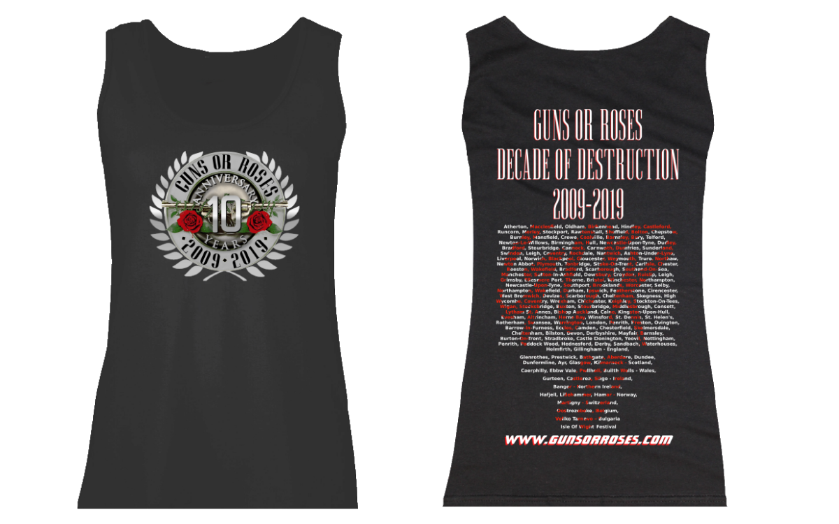 'Decade of Destruction' special edition anniversary ladies vest top